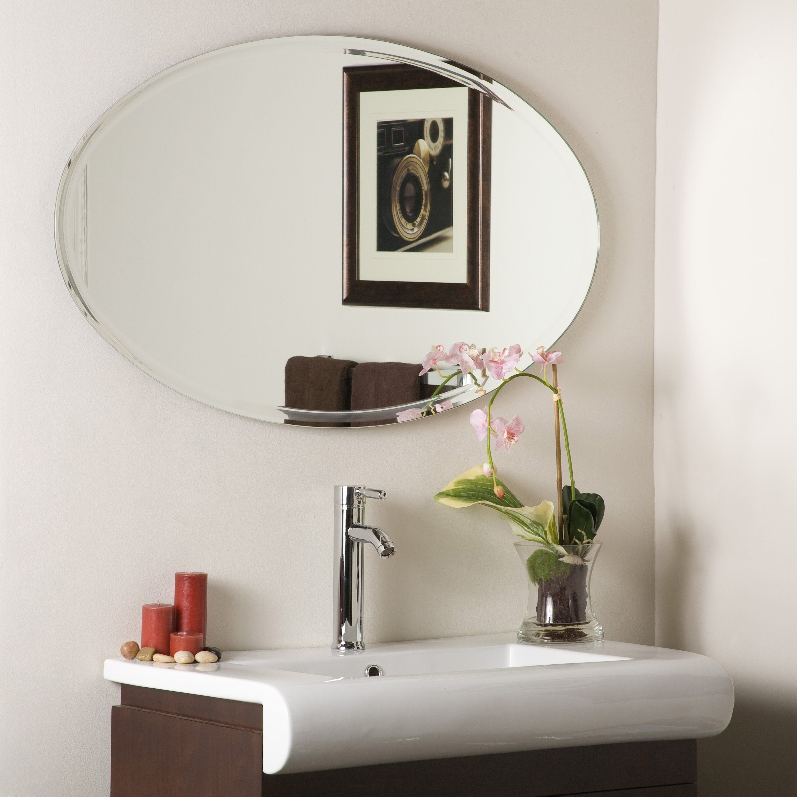 Oval Wall Mirror Large | http://drrw.us | Pinterest | Large bathroom ...
