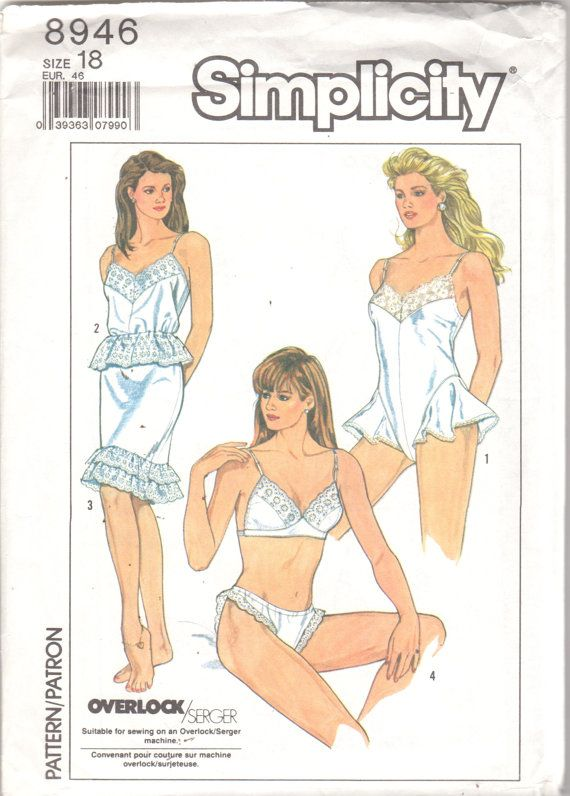 b18a9ac519 Simplicity 8946 1980s Misses LINGERIE Pattern Bra by mbchills ...