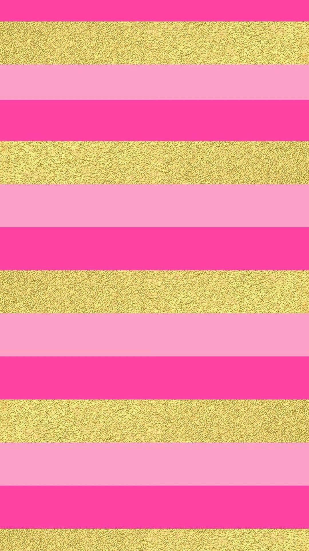 Pink Gold Chevron