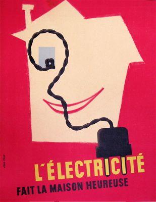 Vintage Poster Lu0027Electricite Flavorful Poster Ads Pinterest