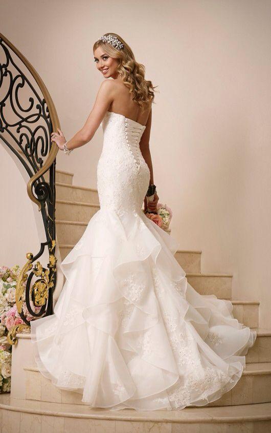 Lace-up, corset style wedding dress. | ~Wedding Day~ | Pinterest ...