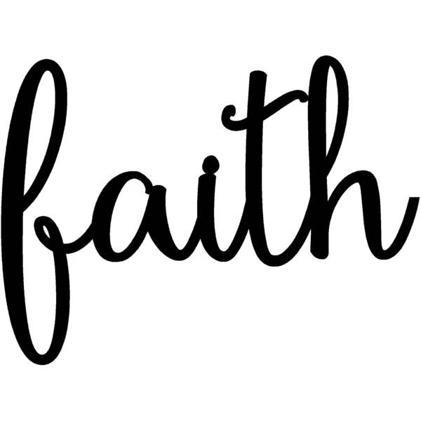 Faith Sign Metal Faith Home Sign Rustic Word Art Sign Metal Wall Art..