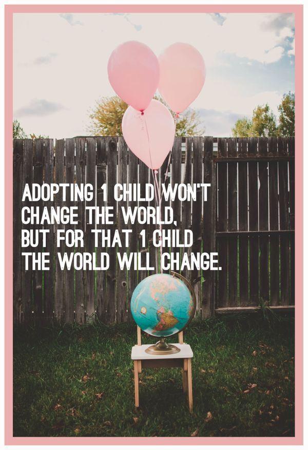 Adopting 1 Child Quote