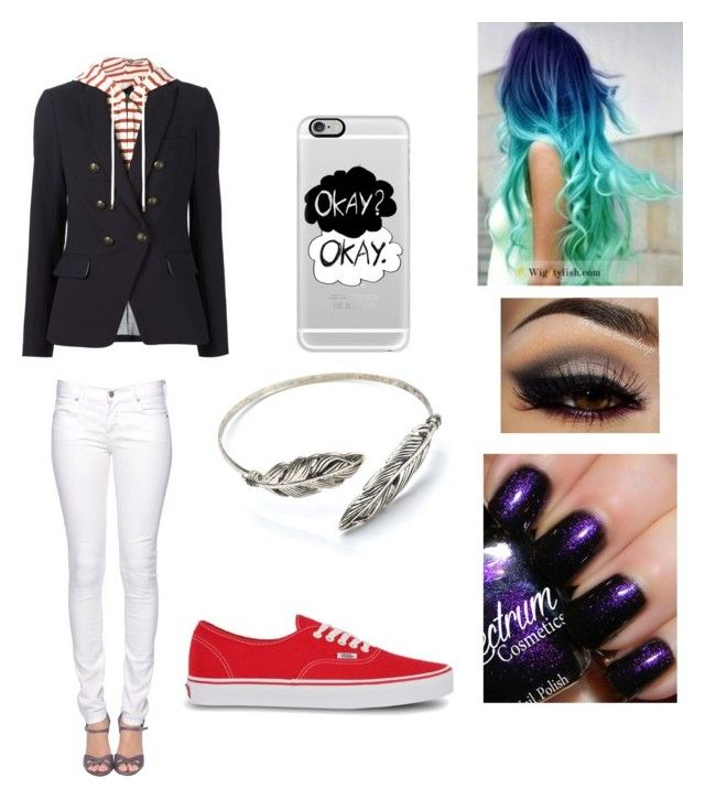 """""""Night on the street"""" by maddy-phelan on Polyvore featuring Veronica Beard, Casetify, Vans and Citizen of Humanity"""