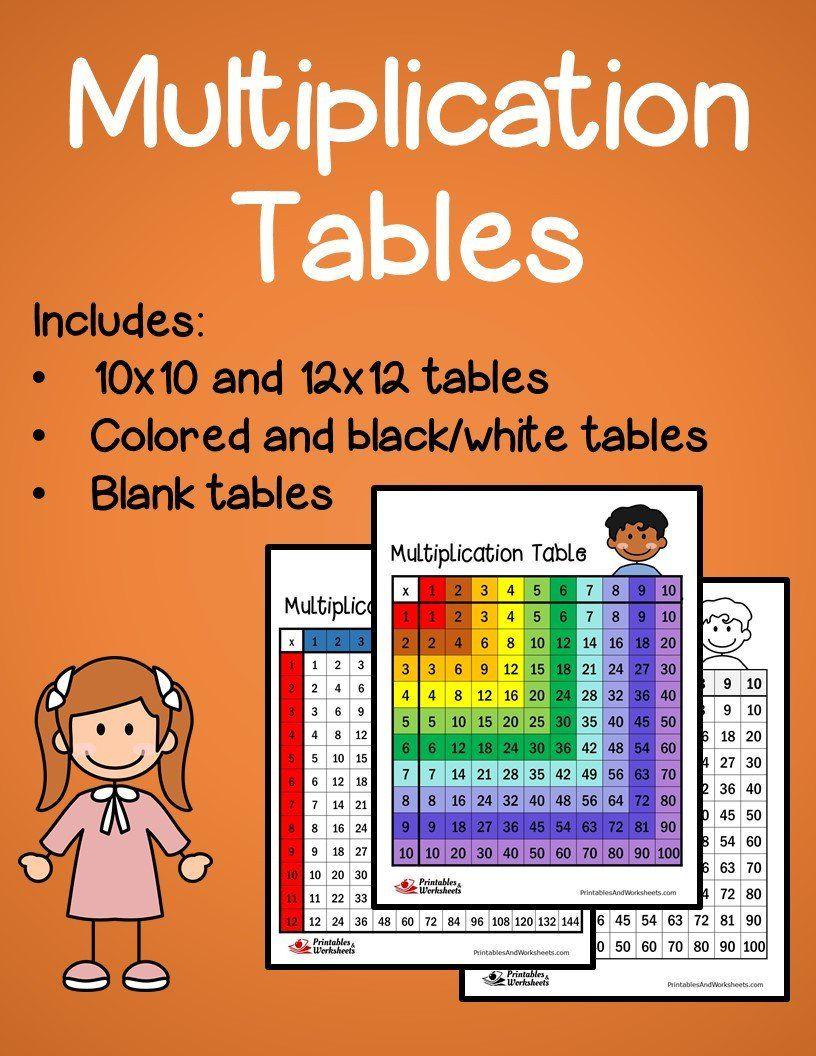 Multiplication Table Multiplication table
