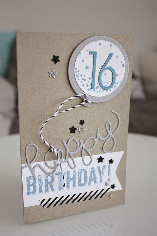 Geburtstagskarten Basteln Fur Jungs.Pin Auf Stampin Up Cards