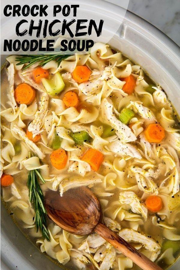 Crockpot Chicken Noodle Soup Recipe Crockpot Chicken Noodle Soup Recipes Fall Soup Recipes Crockpot Recipes Easy