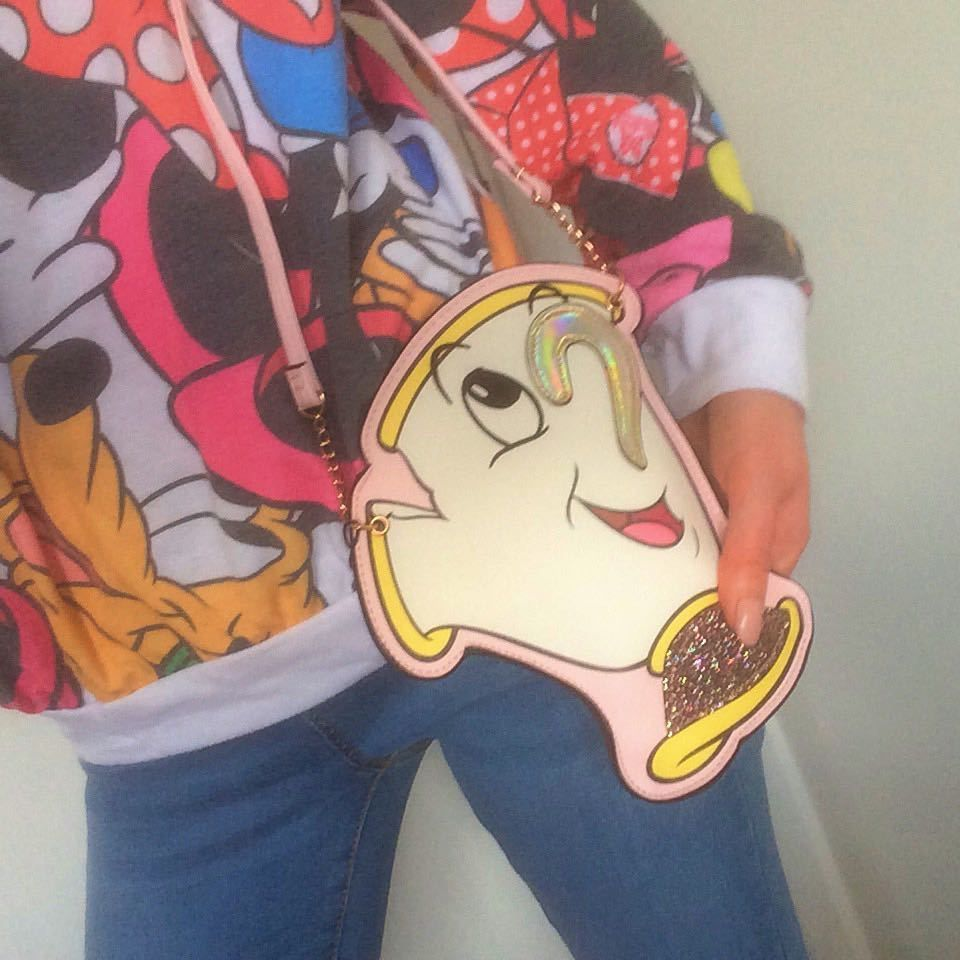 Primark DISNEY CHIP Cup Purse Mini Bag Beauty And The
