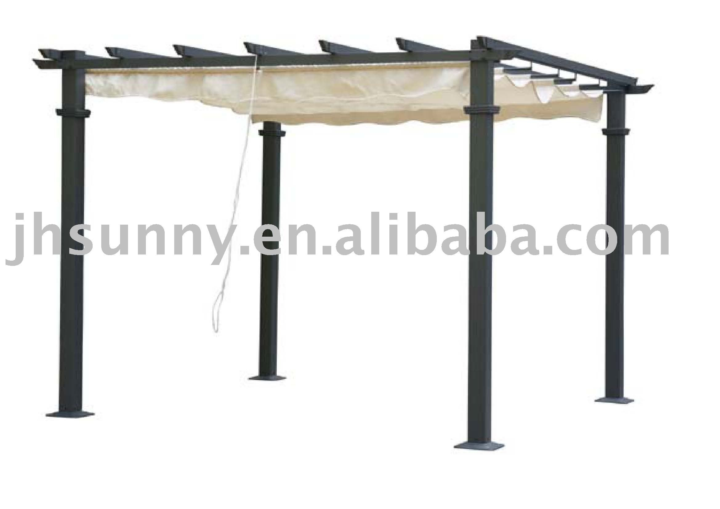 pergola with fabric roof Great Garden Elements