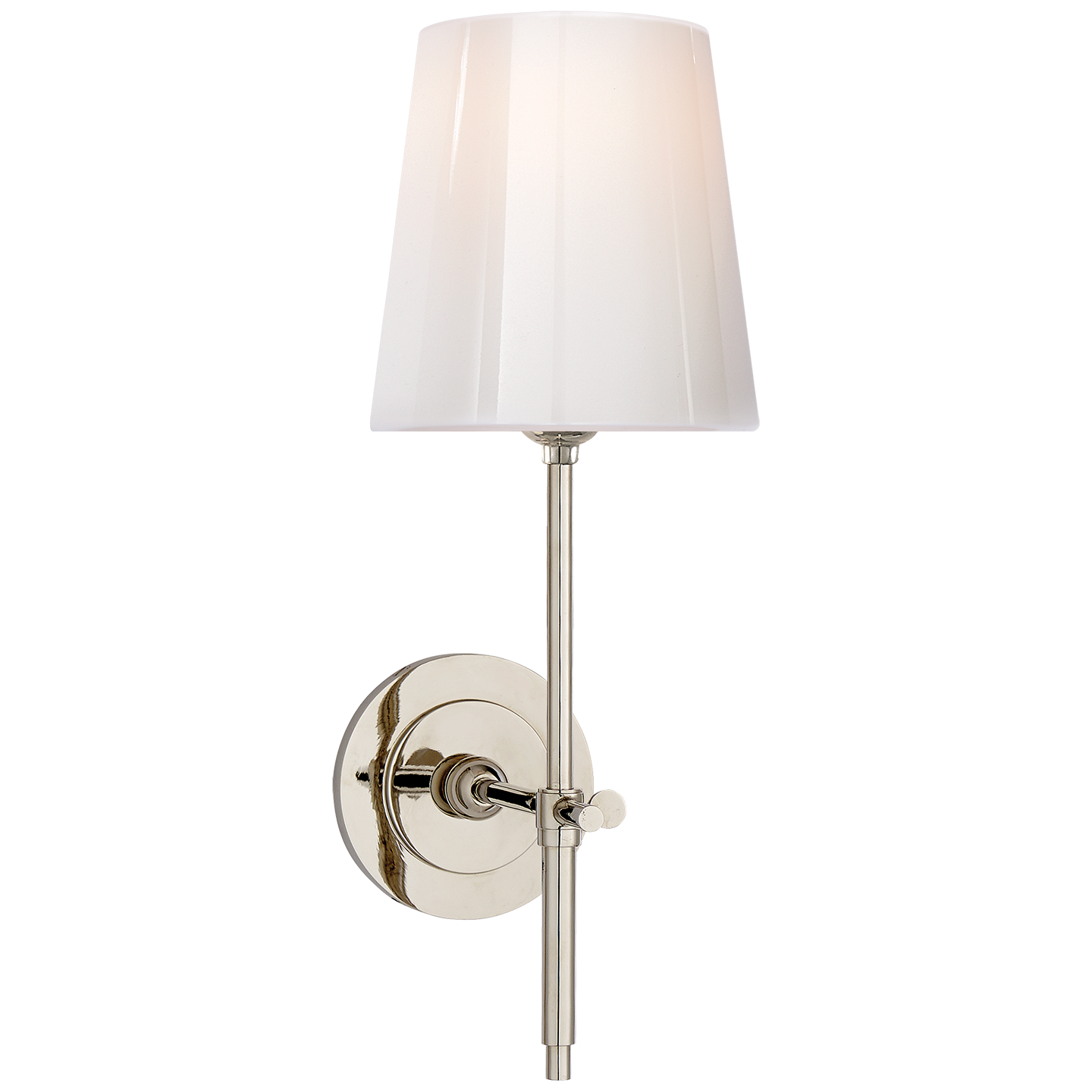 Buy bryant sconce circa lighting - Bryant Sconce In Antique Nickel With White Glass