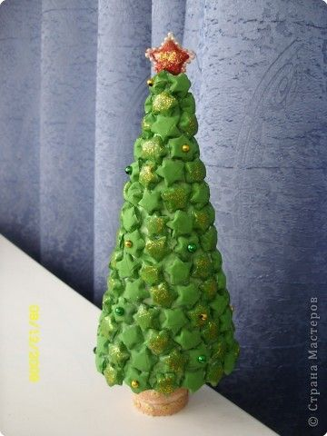 Tree Made From Origami Lucky Stars