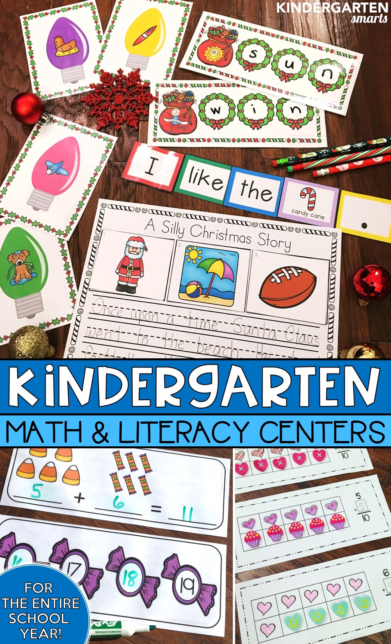 Kindergarten Centers Math And Literacy Centers For The