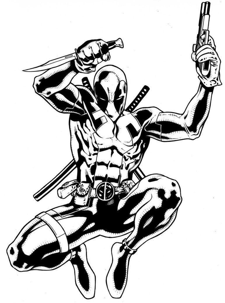 Deadpool | Superhero | Pinterest | Lápiz, Negro y Blanco