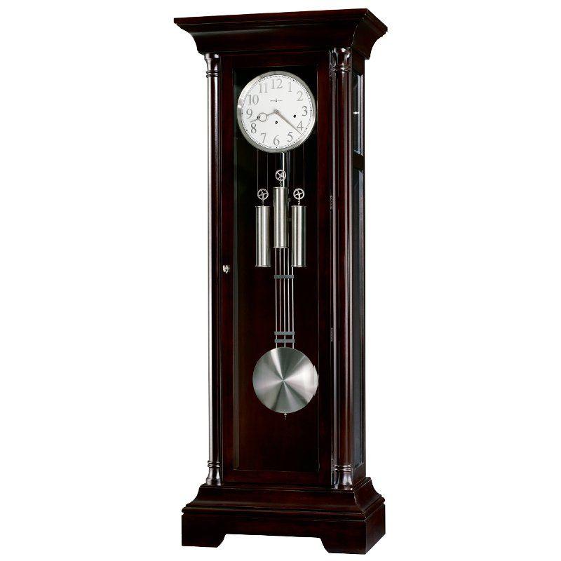 Transitional Black Seville Floor Clock Grandfather Clock Clock Vintage Clock