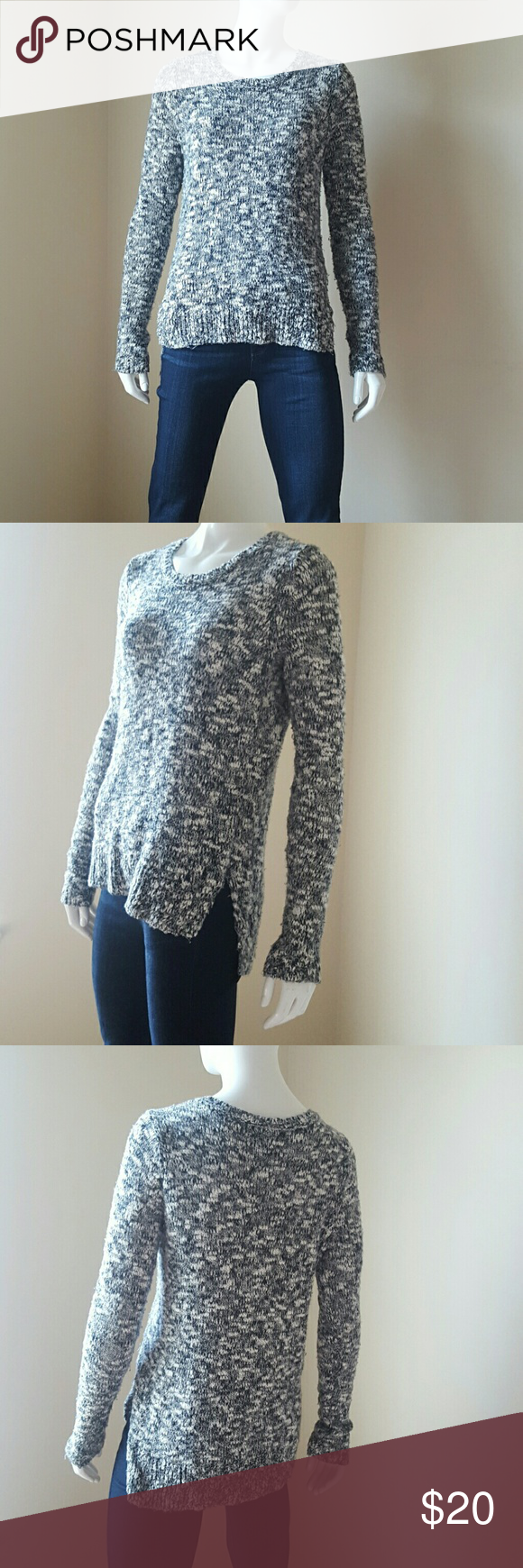 Abercrombie & Fitch Marbled grey knitted sweater Excellent ...
