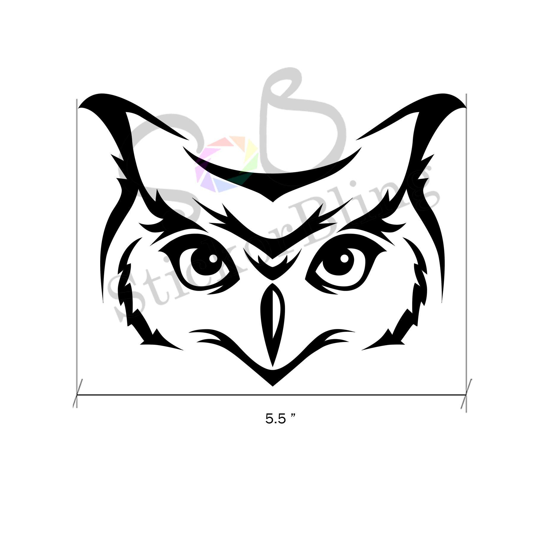 Owl Die Cut Vinyl Decal Sticker Car Window Bumper Computer - Owl custom vinyl decals for car
