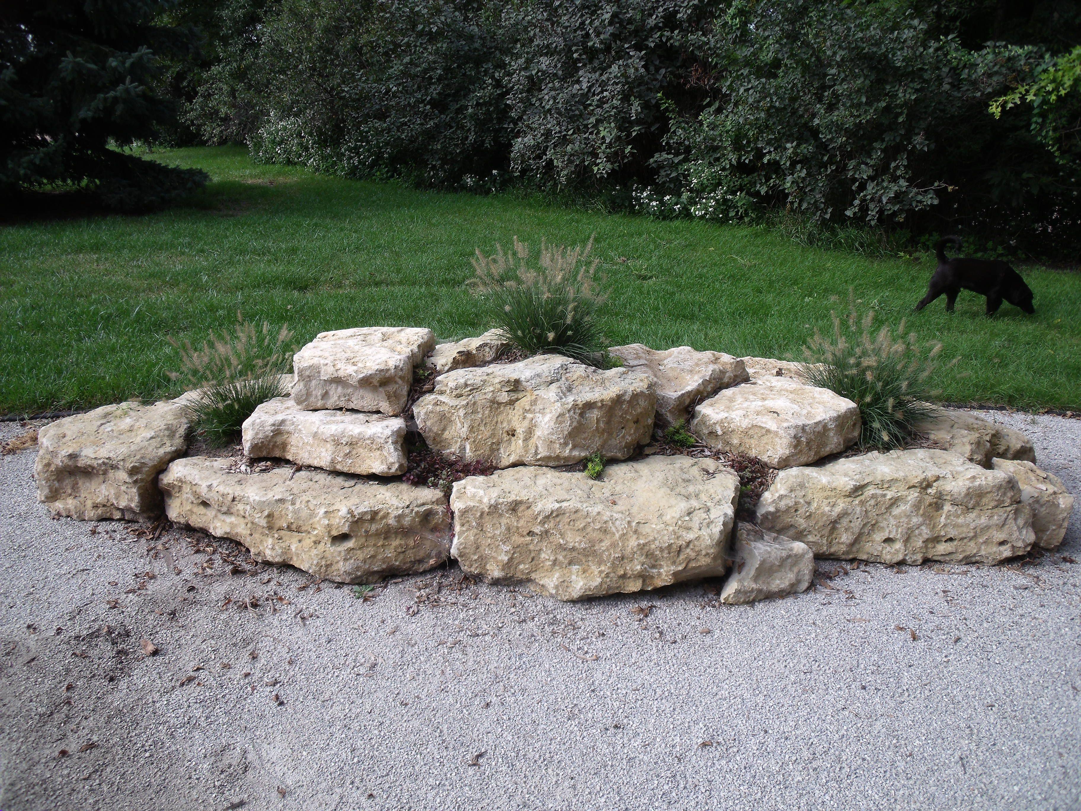 Limestone Boulders For You Garden Landscaping With Boulders Landscaping With Rocks Large Backyard Landscaping