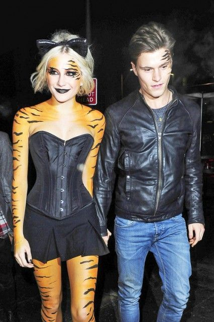 Pixie lott goes out painted as tiger in 2019 - When is it too cold to paint ...