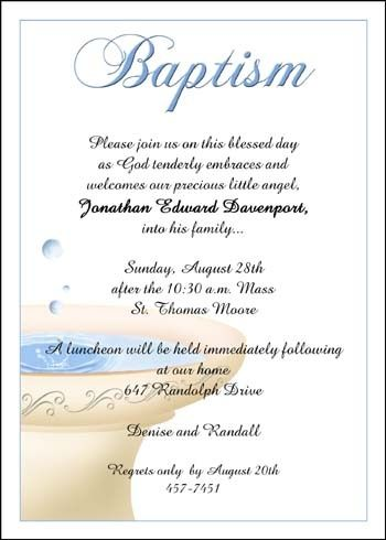 Boy Religious Baptism Invite Wording Ideas and Samples Baptism - ceremony invitation template