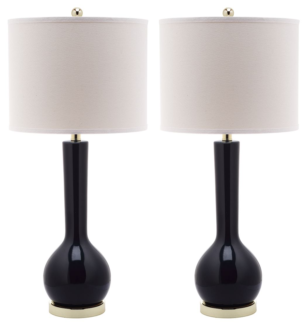 Luz Long Neck Ceramic Table Lamp Set Of 2 Table Lamp Sets Table Lamp