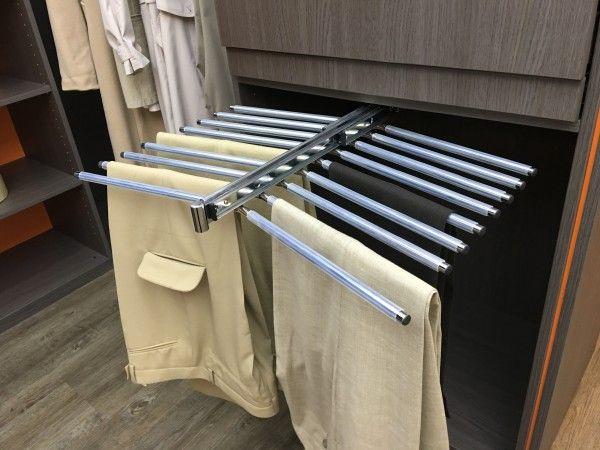 Accessoires de rangement porte pantalons double 18 barres avec anti - fixation porte de placard
