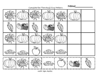 thanksgiving math patterns holiday and seasonal ideas for school thanksgiving math math. Black Bedroom Furniture Sets. Home Design Ideas