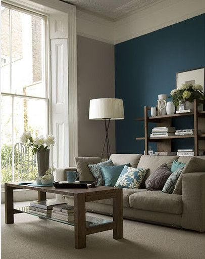 Wohnideen Für Wohnzimmer Farben. Perk Up Your Homeu0027s Style With These 10  Easy Pick Me Up Ideas. #blue #accent #wall