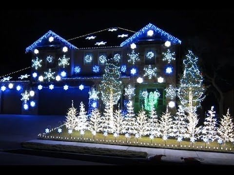 Dubstep Christmas Lights To Music 2013 Christmas Light Show Christmas House Lights Blue Christmas Lights