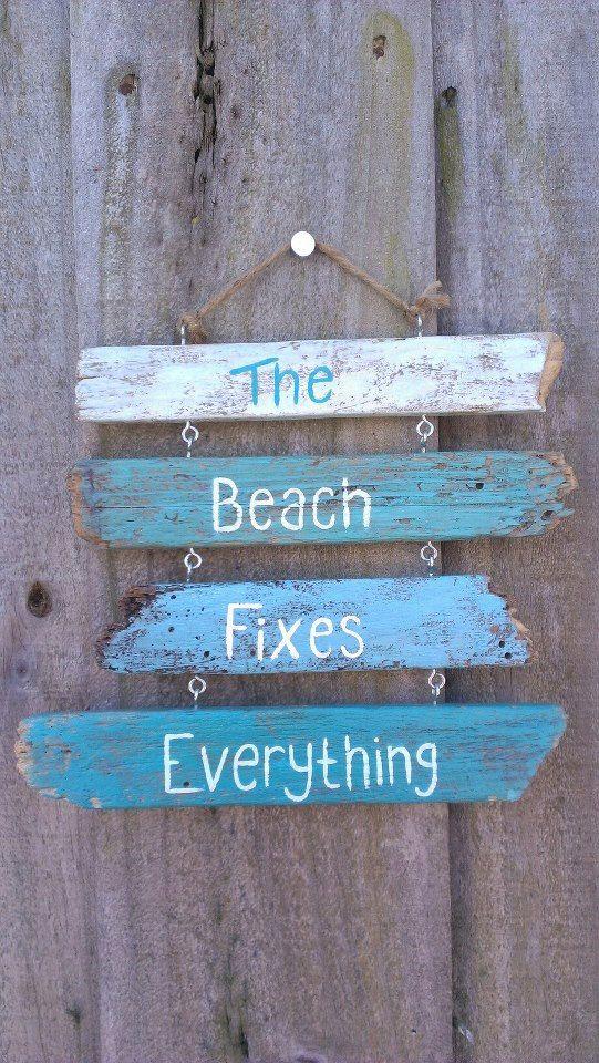 Beach Driftwood Signs Beach Crafts Beach House Decor