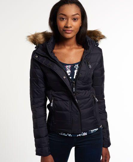 Superdry Fuji Slim Double Zip Hood Jacket | Puffy jacket in