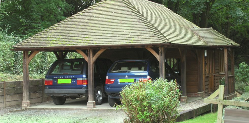Two oak bay carport and studio from the Character Building