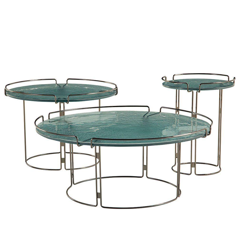 table basse en mtal et verre roche bobois