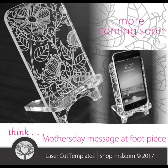 cell phone stand laser cut template pattern design mothers day gift free vector designs every day