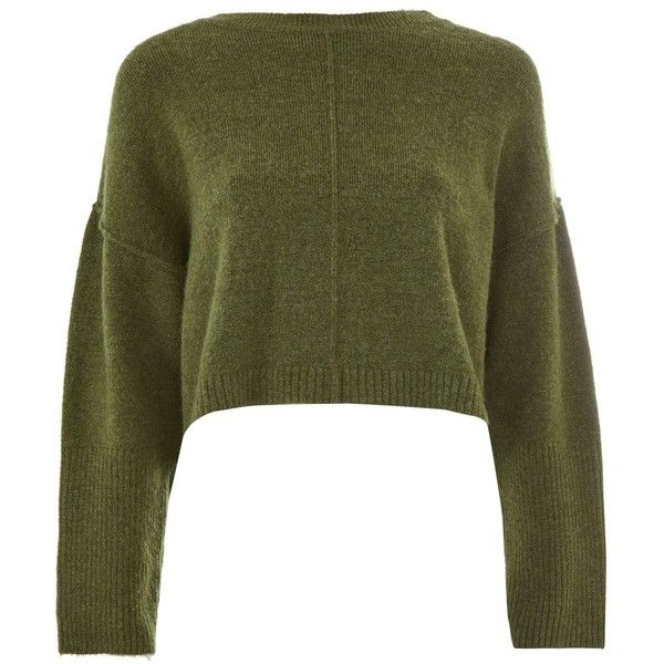 edcf5aa235e Topshop Petite Ribbed Cropped Jumper ( 41) ❤ liked on Polyvore featuring  tops