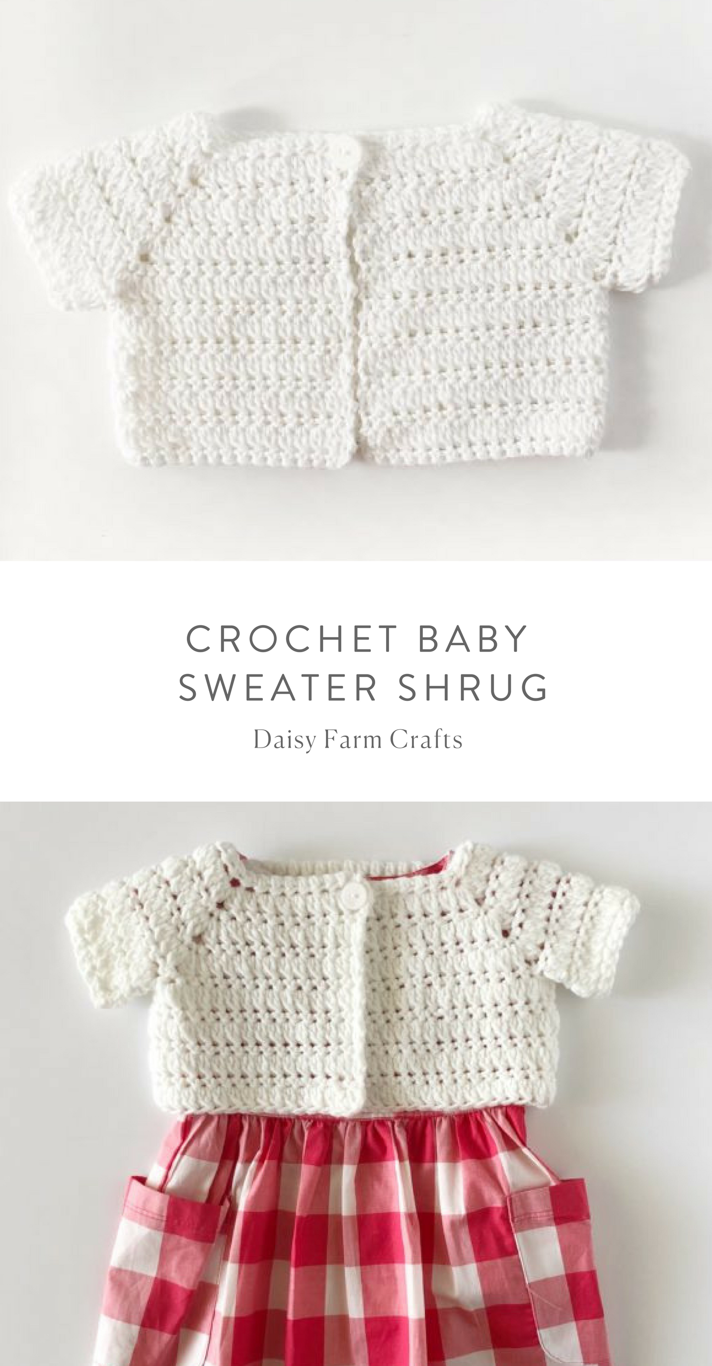 Free Pattern - Crochet Baby Sweater Shrug | Baby, Toddler & Kid ...