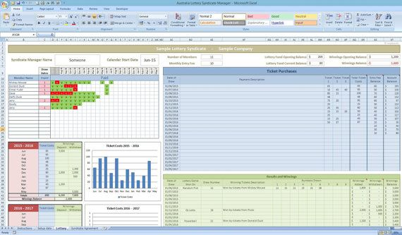 Australian Lottery Syndicate Tracker Excel Template by Templates4U - survey forms in excel