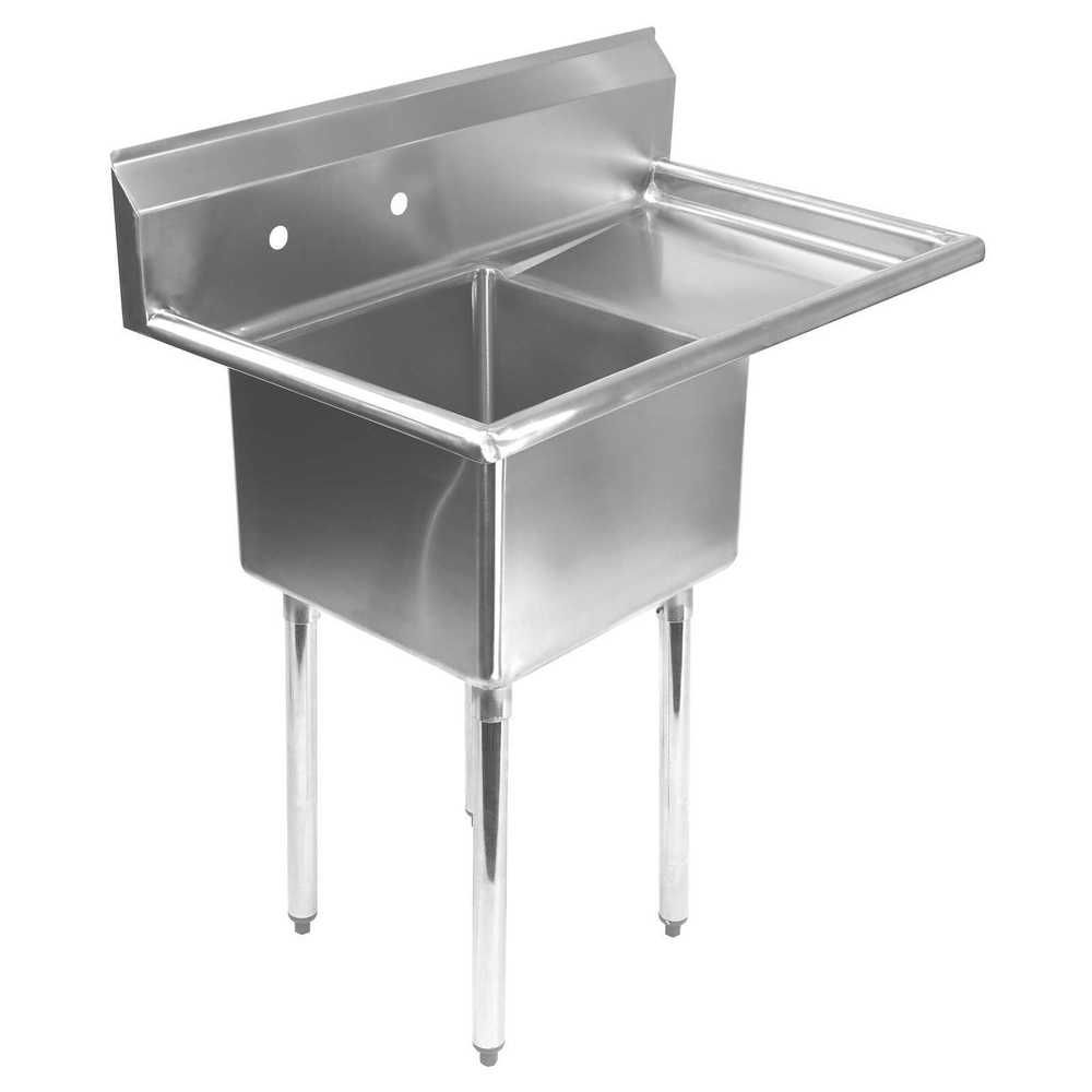 Commercial Stainless Steel Kitchen Utility Sink With Drainboard 39 Wide Stainless Steel Utility Sink Utility Sink Commercial Kitchen Sinks