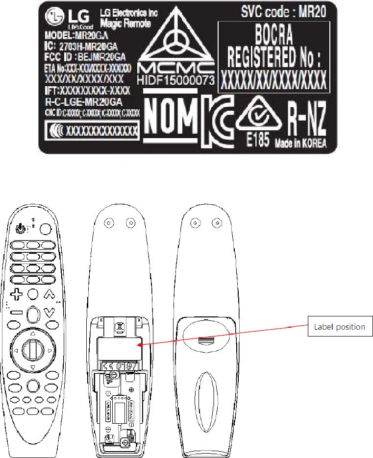 066570 LG Electronics USA Magic Remote MR20GA (BEJMR20GA