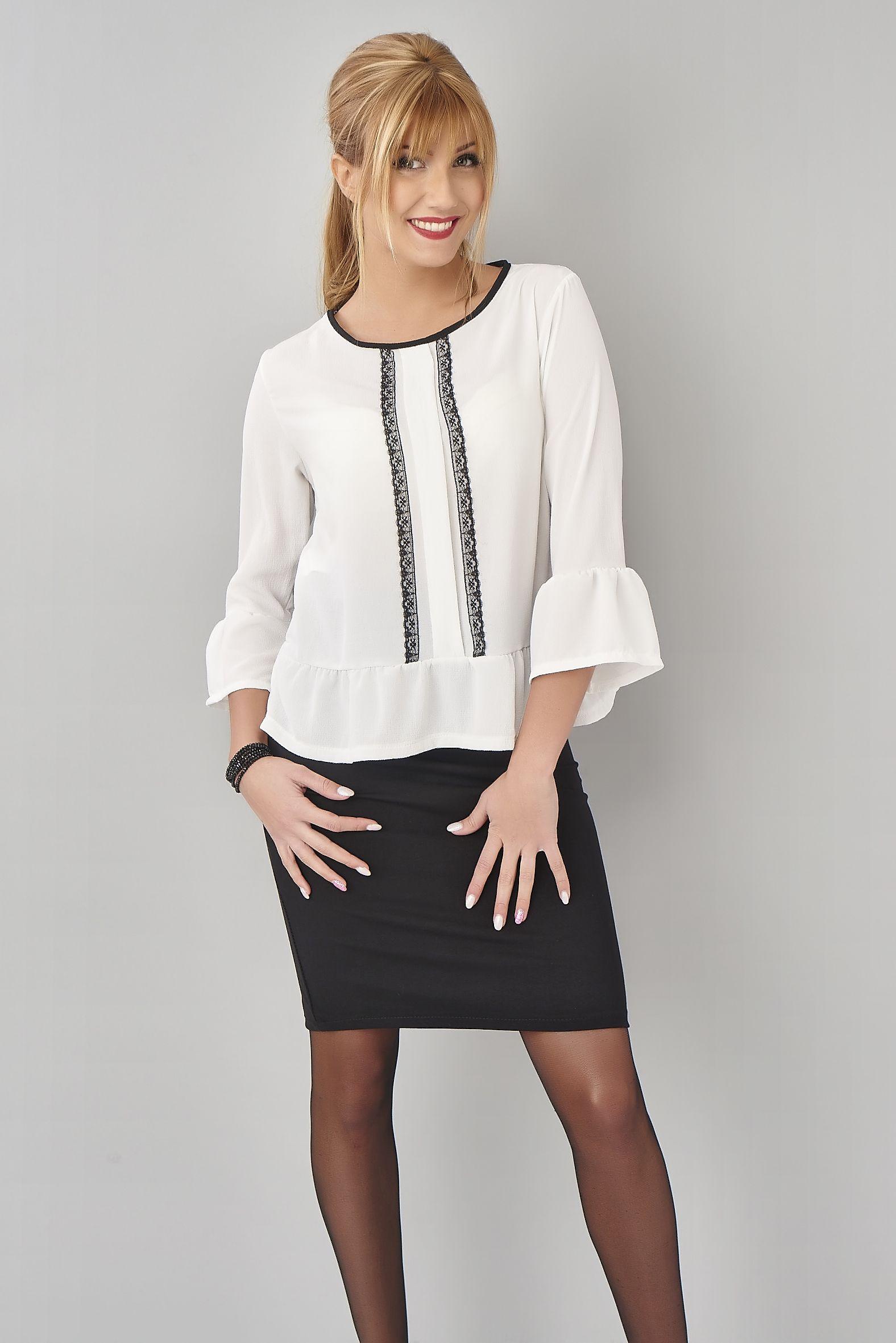 998257582e770f Look de secrétaire grâce à cette petite jupe crayon noire et ce haut ...