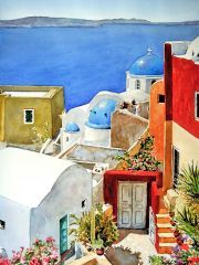 Colors of Oia by Pantelis Zografos