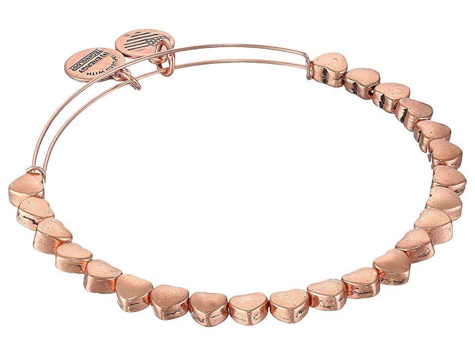 Alex and ani heart beaded bangle bracelet rafaelian rose