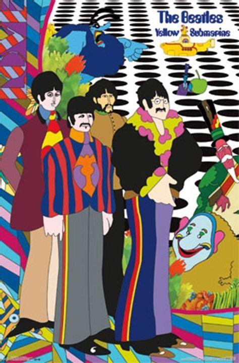 Beatles Yellow Submarine Poster Beatles Poster Yellow Submarine