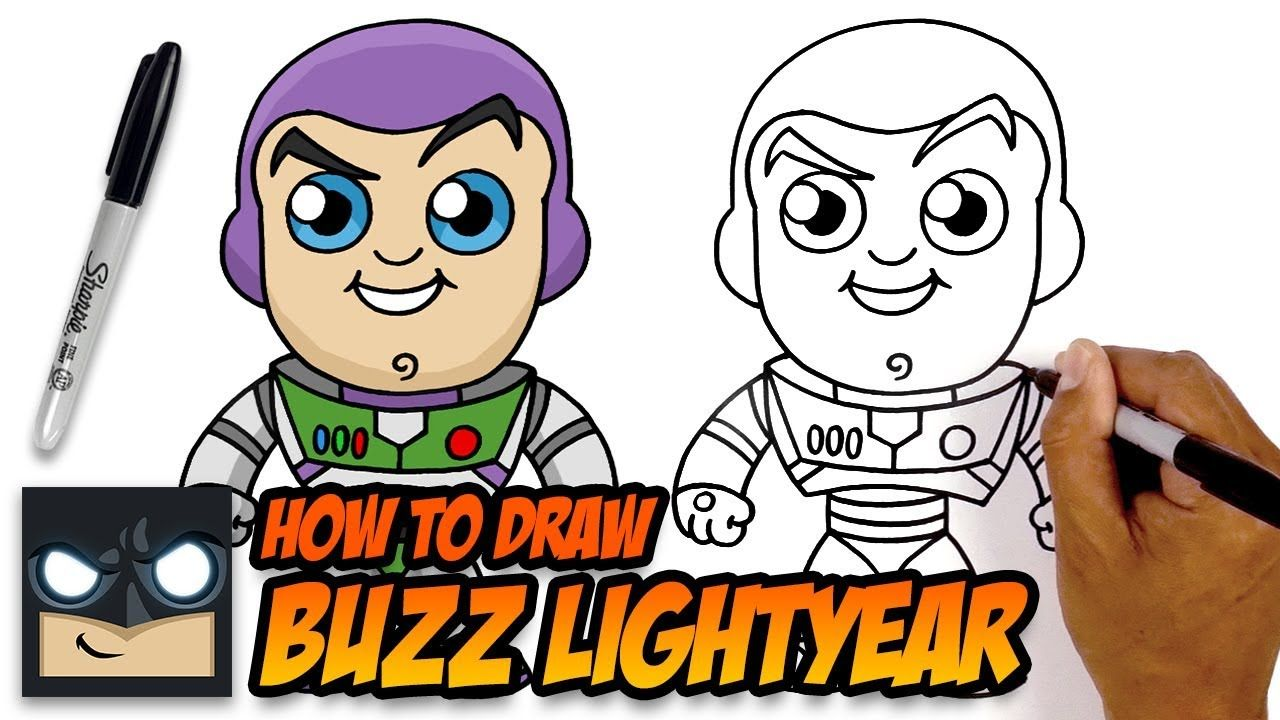 How To Draw Buzz Lightyear Toy Story Easy Cartoon Drawings Cartooning 4 Kids Drawings