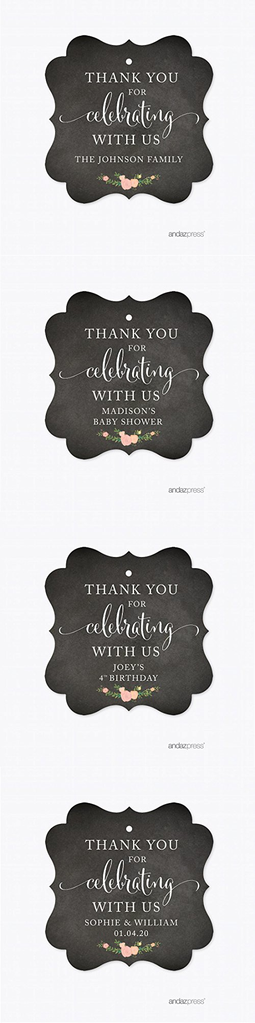Andaz Press Chalkboard Floral Party Wedding Collection, Fancy Frame ...