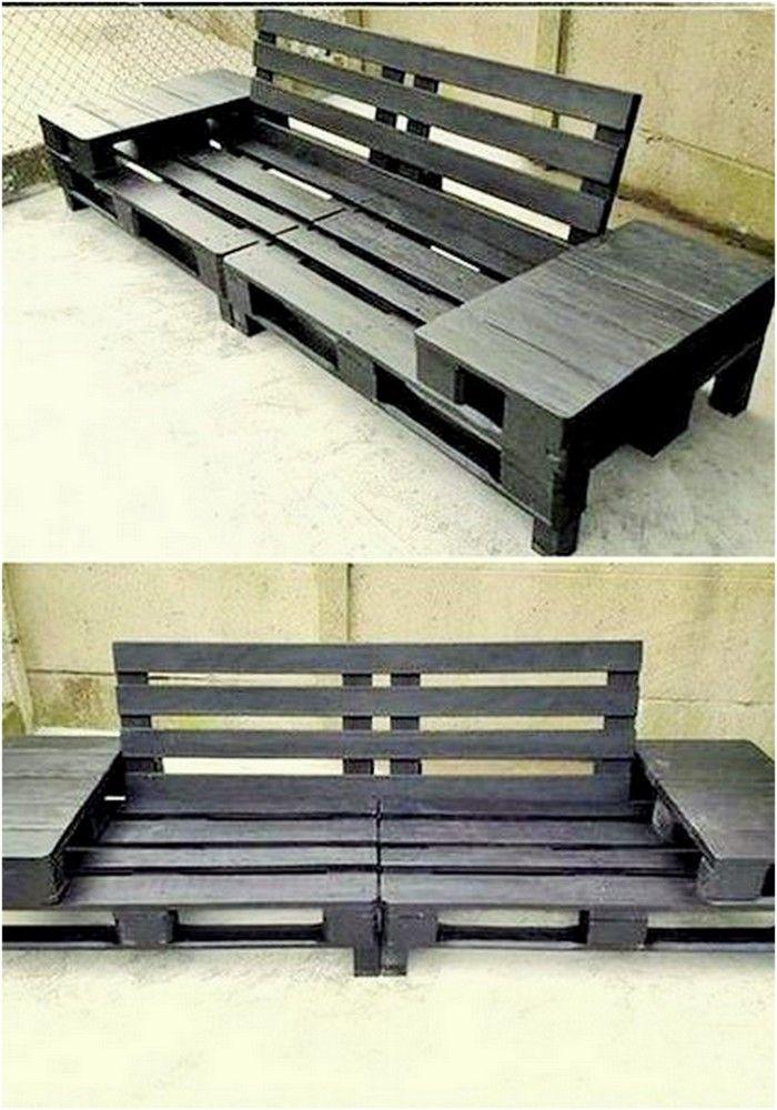 Photo of diy wooden pallet sofa