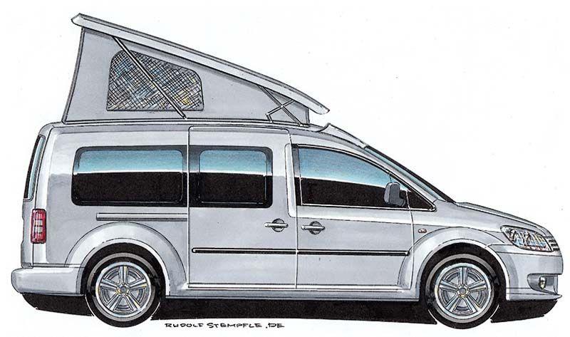 aufstelldach hinten ffnend f r volkswagen caddy langer. Black Bedroom Furniture Sets. Home Design Ideas