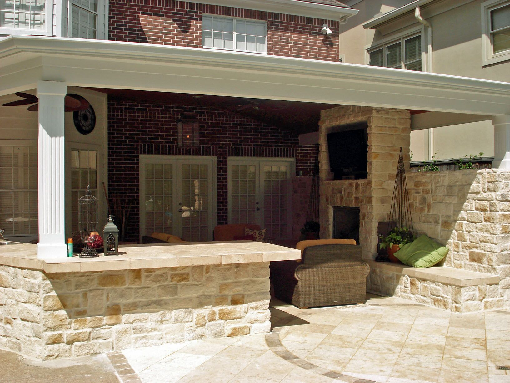 outdoor kitchen with covered patio | Building My Dream ... on Outdoor Kitchen With Covered Patio id=53914