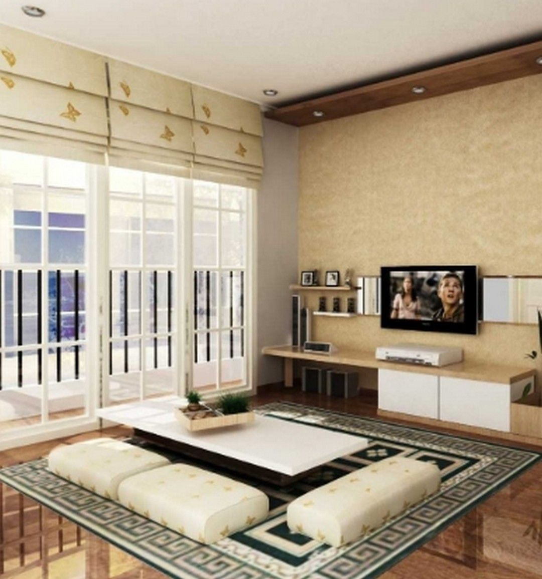 6 Living Room Interior Without Chairs In 2020 Living