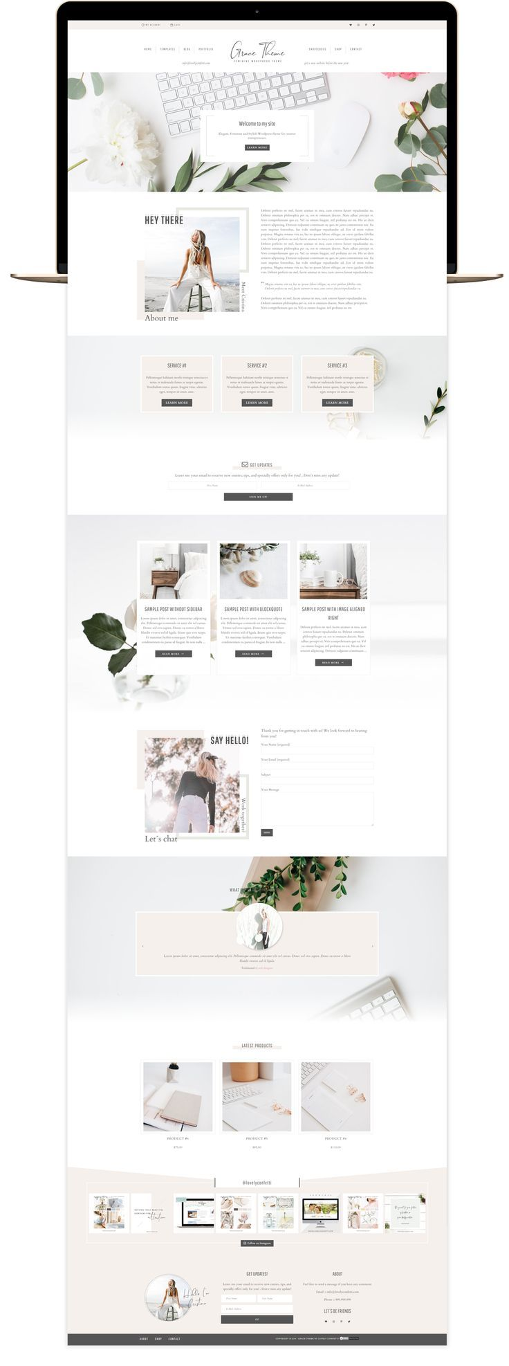 Grace portfolio and eCommerce Genesis Child Theme - Lovely Confetti