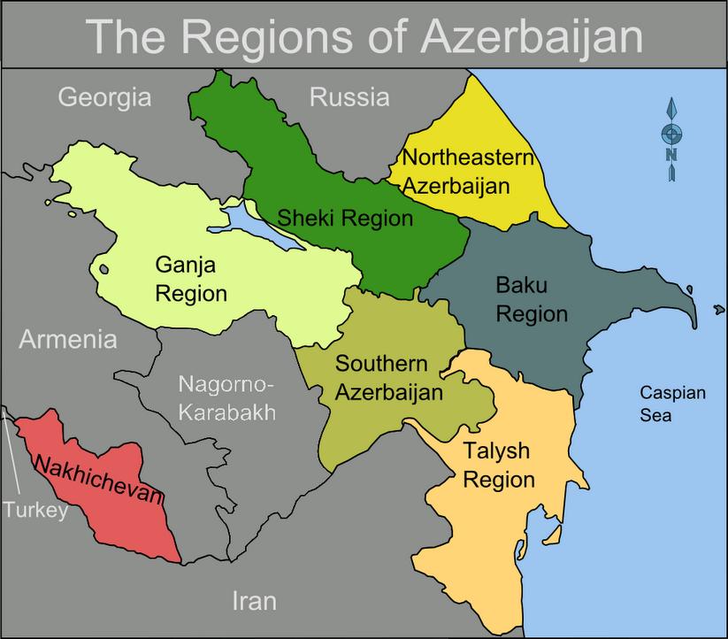 the map of azerbaijan Map Of Azerbaijan Regions Azerbaijan Mappery Azerbaijan the map of azerbaijan